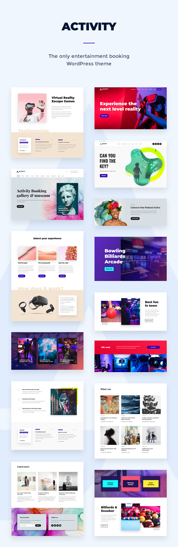 activity -  Escape room, Activity & Experience Booking WordPress Theme