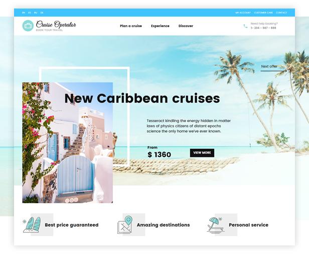 Cruise Operator WordPress Theme