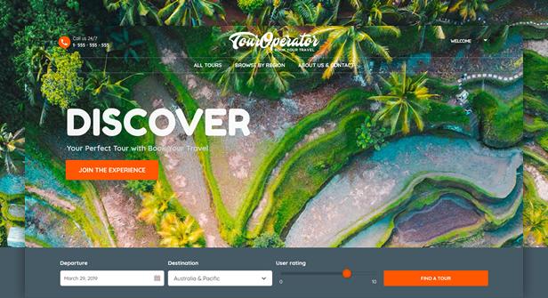 Tour Operator WordPress Theme