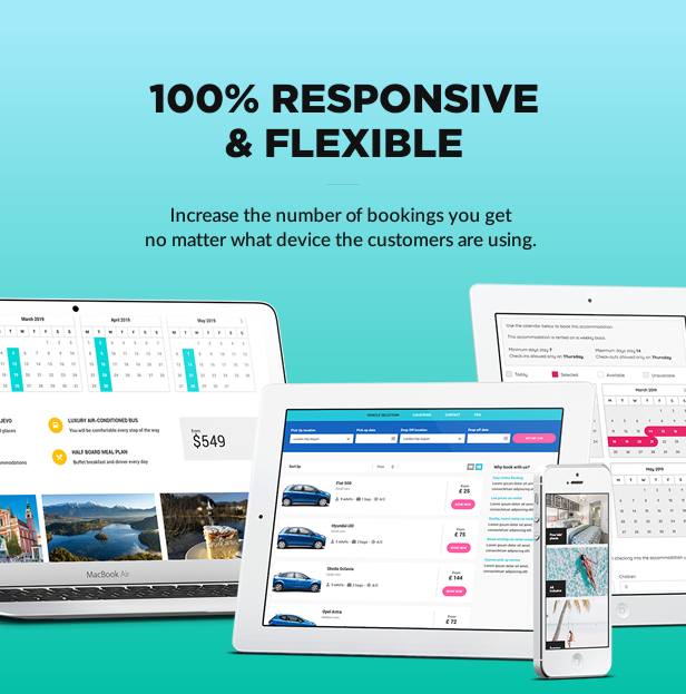 100% responsive and flexible
