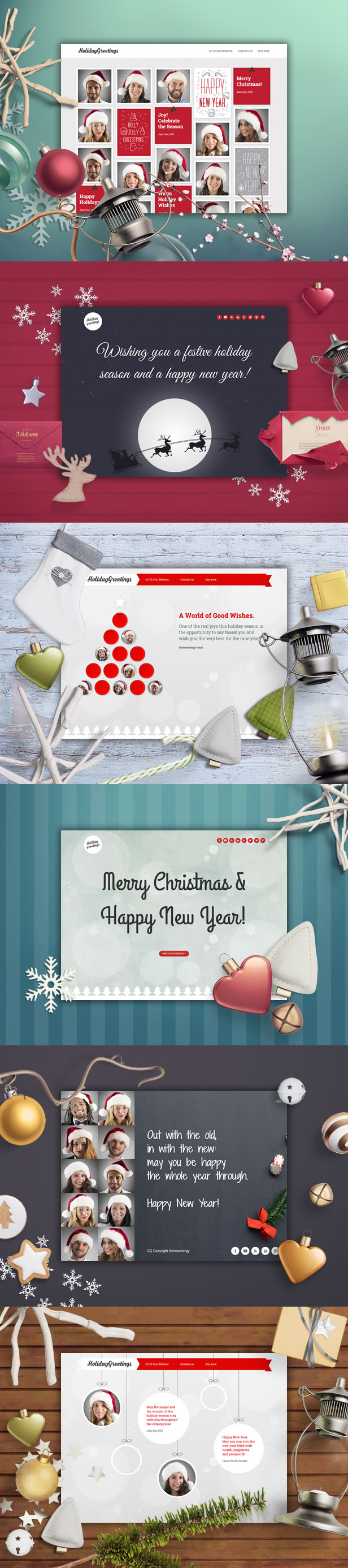 Holiday Greetings - Landing Page Greeting Card by themeenergy
