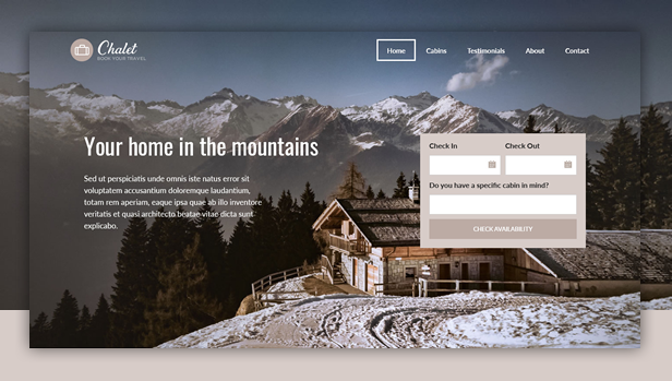 Chalet WordPress Theme