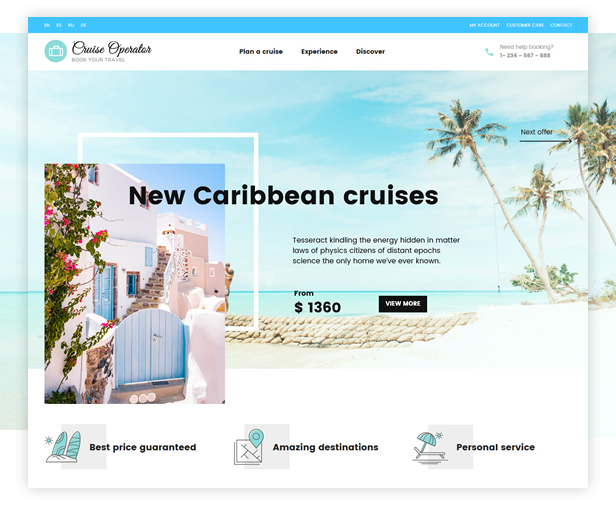 Cruise Operator WordPress Theme