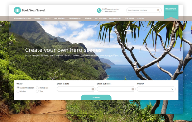 Book Your Travel Online Booking WordPress Theme