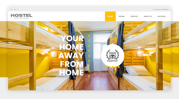 Hostel WordPress Theme