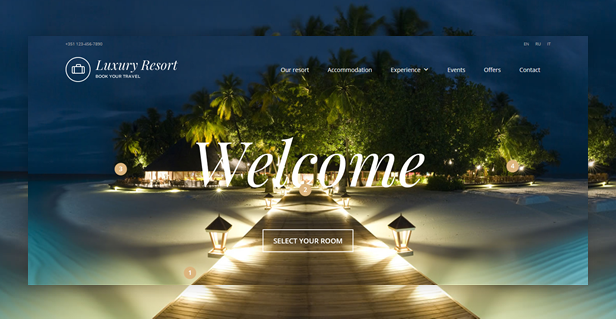 Luxury Resort WordPress Theme