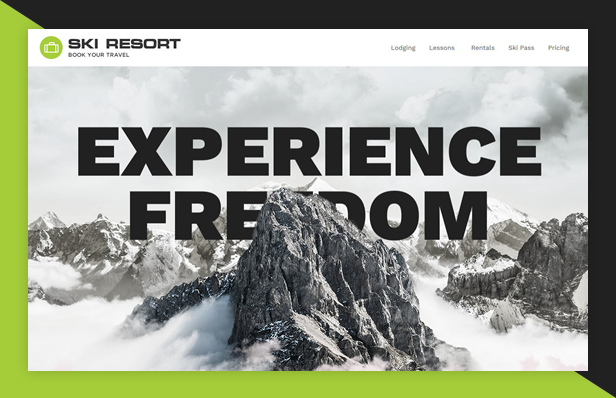 Ski Resort WordPress Theme