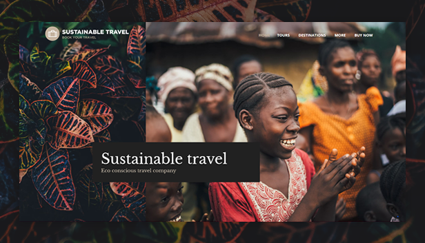 Sustainable Travel WordPress Theme