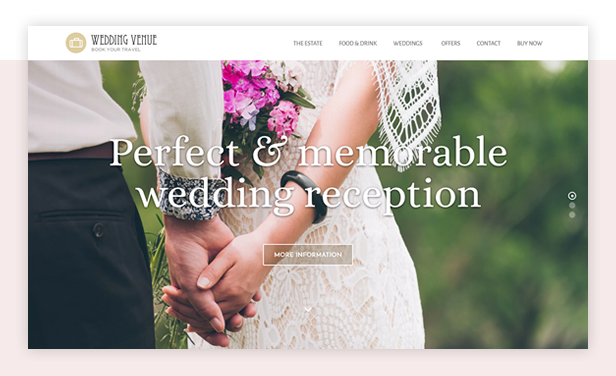 Wedding Venue WordPress Theme